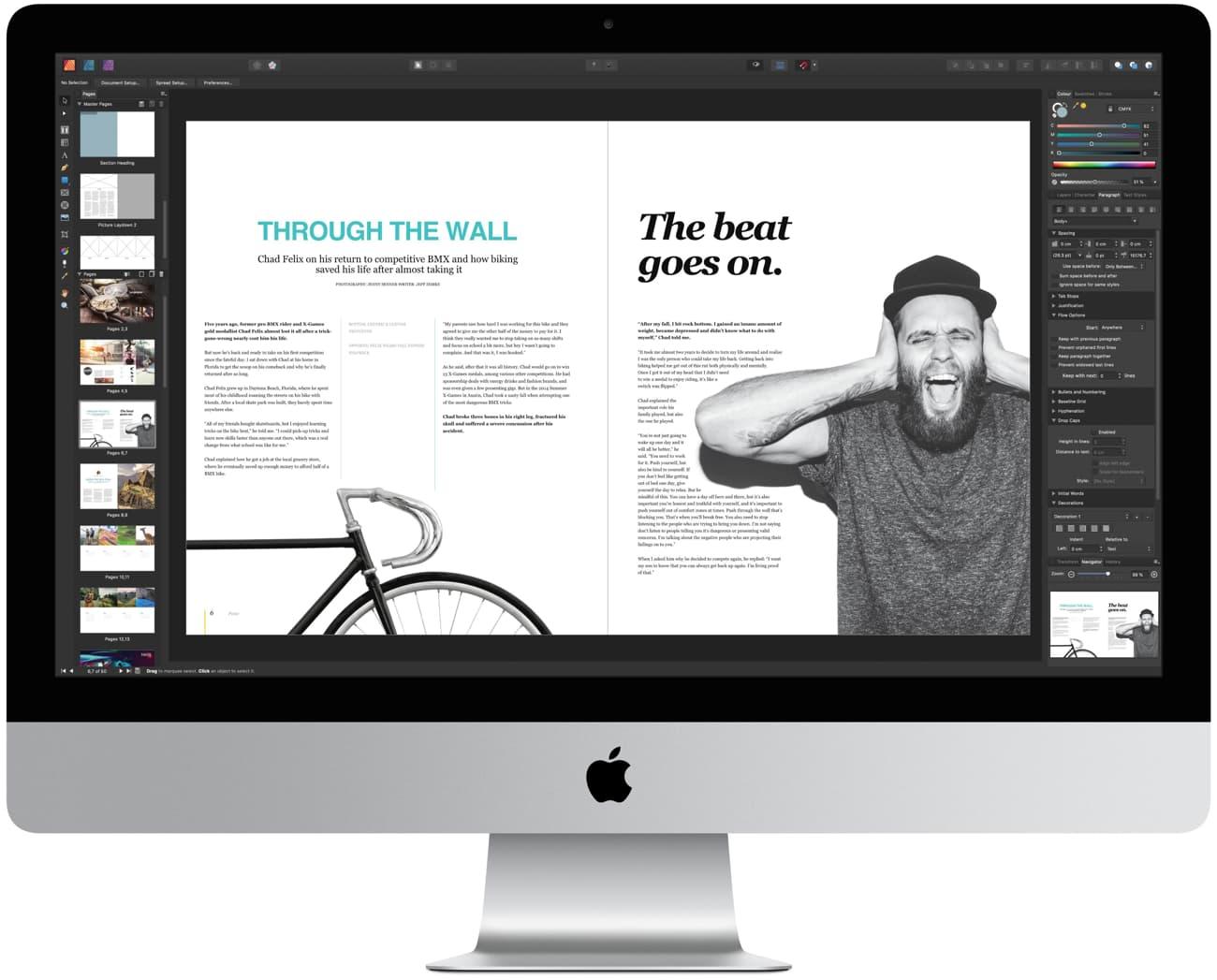 Serif lance AffinityPublisher, doté de l'incroyable nouvelle technologie StudioLink