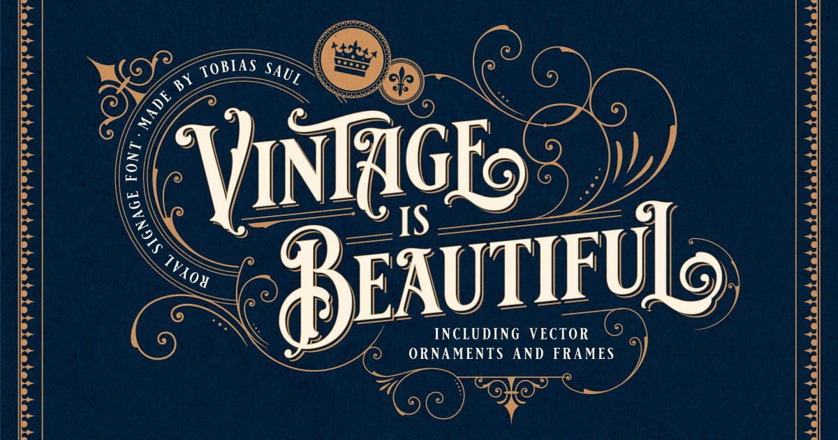 vintage font bundle by tobias saul