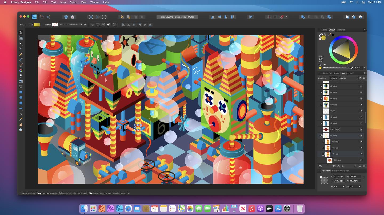 Affinity Publisher läuft auf macOS Big Sur