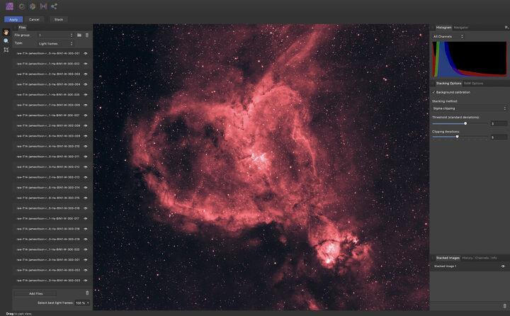 Affinity Photo enthält eine neue Astrophotography Persona.